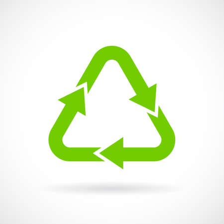 Green recycle sign Illustration