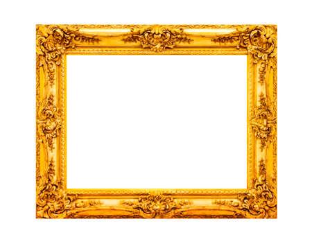 Antike Gold Holzrahmen Standard-Bild - 63064833