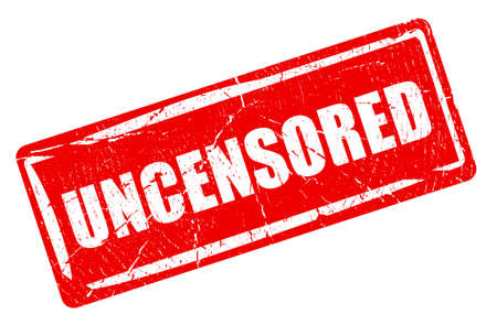 nudity: Uncensored content, warning rubber stamp Stock Photo