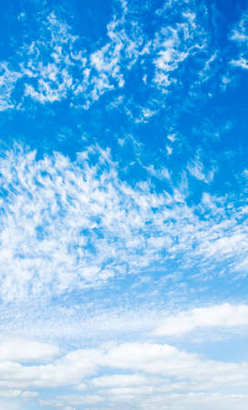 Blue sky and white clouds, natural background Stock Photo