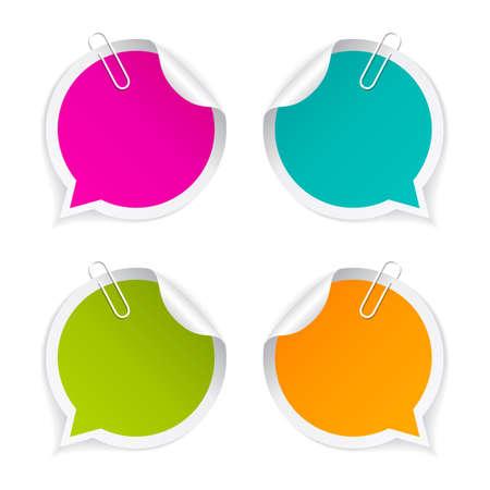 Colorful autocollants ronds fixés Banque d'images - 63064841