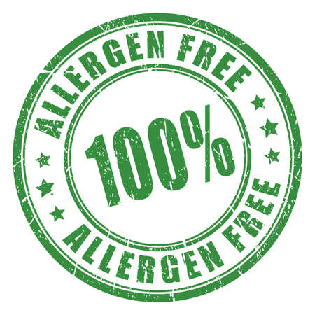 Allergen free rubber stamp