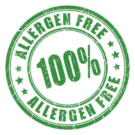 food poison: Allergen free rubber stamp
