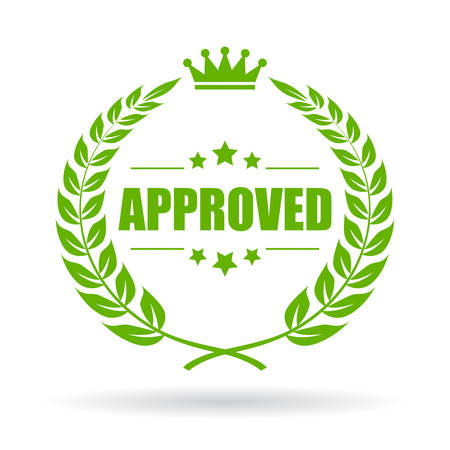 approved: Approved laurel icon