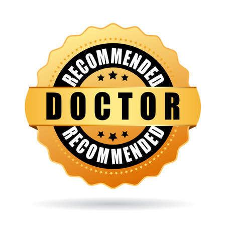 Doctor recommended gold icon Vectores