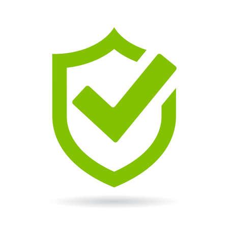 Tick Shield Security icoon Vector Illustratie