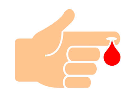 Blood test medical icon