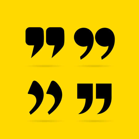 parentheses: Text commas set on yellow background