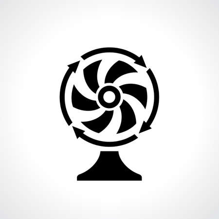 paddle wheel: Desk fan vantilator icon