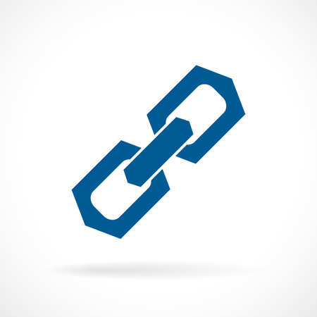 Strong solid chain link icon Illustration