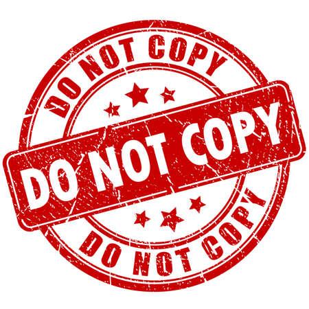 Nicht Vorsicht Stempel kopieren