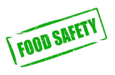 food poison: Food safety grunge stamp