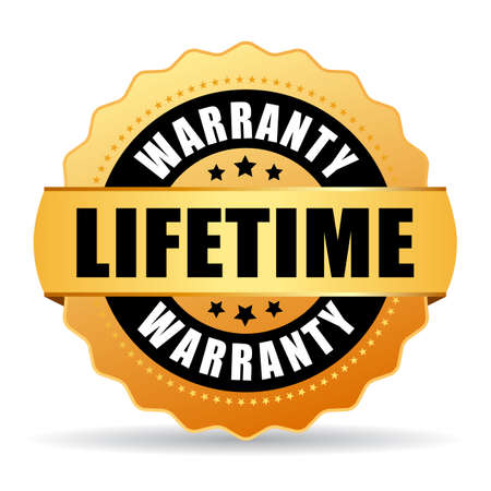 Lifetime warranty gold icon