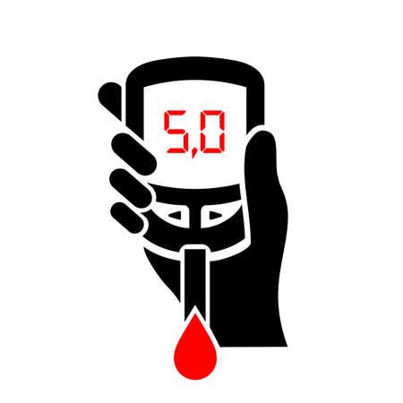 Normal sugar level in blood illustration Vector Illustration