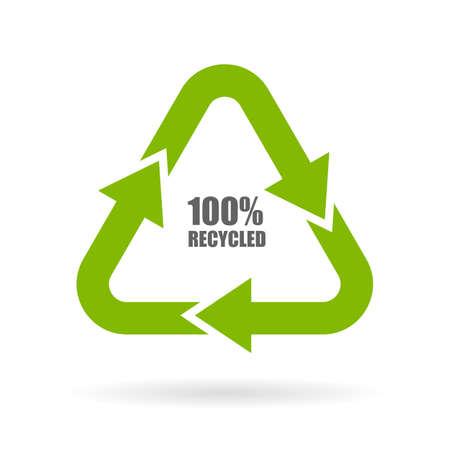 100 frecce riciclati segno