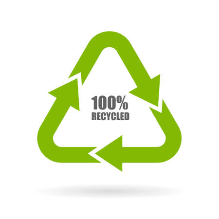 100 recycled arrows sign