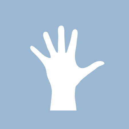 Open human hand shape