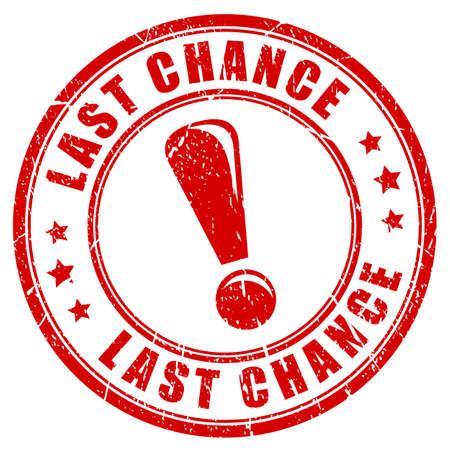 sello de goma última oportunidad