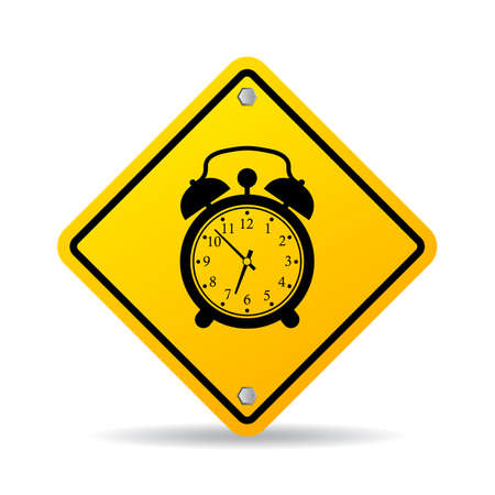 timekeeping: Alarm clock sign