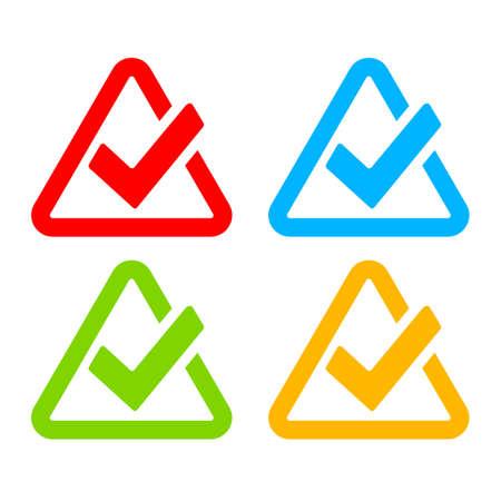 bullet proof: Stylish modern tick symbols