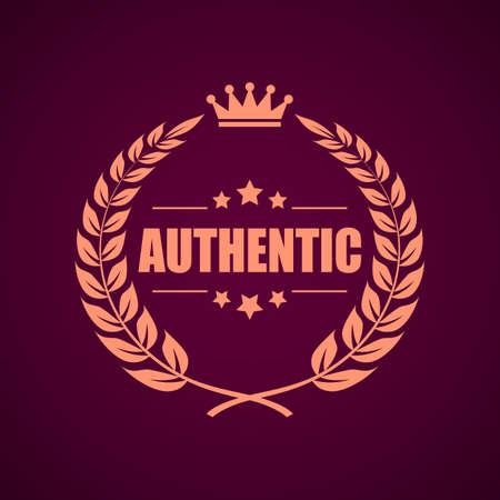 authoritative: Authentic product laurel emblem