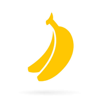 Ripe yellow bananas icon