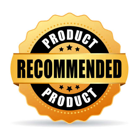 most popular: Recommended product gold icon Illustration