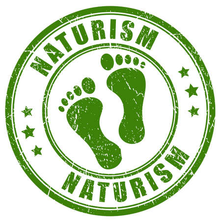 feet naked: Naturism rubber stamp