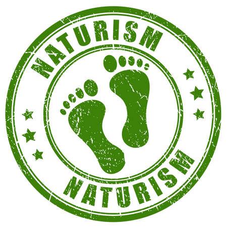 Naturism rubber stamp