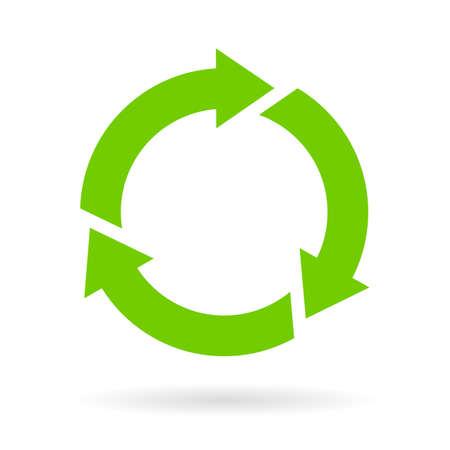 lifecycle: icono del ciclo de verde Vectores