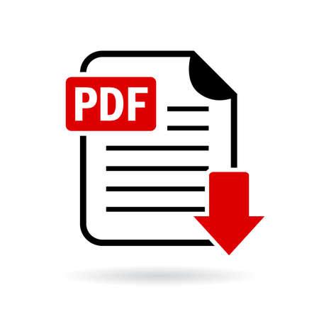 Pdf document de téléchargement icône