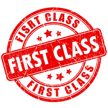 truthful: First class rubber stamp Illustration