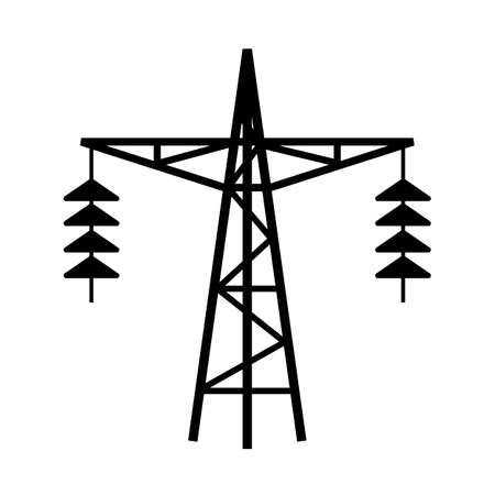 high voltage sign: Power line tower icon