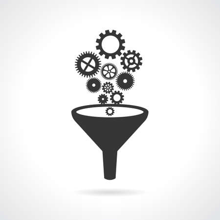 Abstract engineering icon Vektoros illusztráció