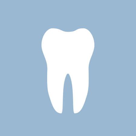 White tooth dental icon Illustration