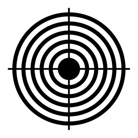 shooting target: Shooting target aim Illustration