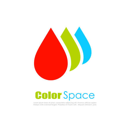 RGB color drops design Illustration