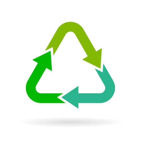 Recycling arrows symbol