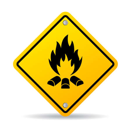 nude outdoors: Fire warning sign