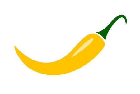 chilli pepper: Yellow chilli pepper illustration