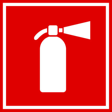 conflagration: Fire extinguisher red sign