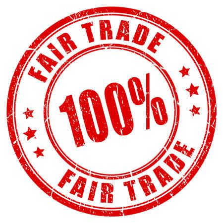 credible: 100% fair trade guarantee stamp