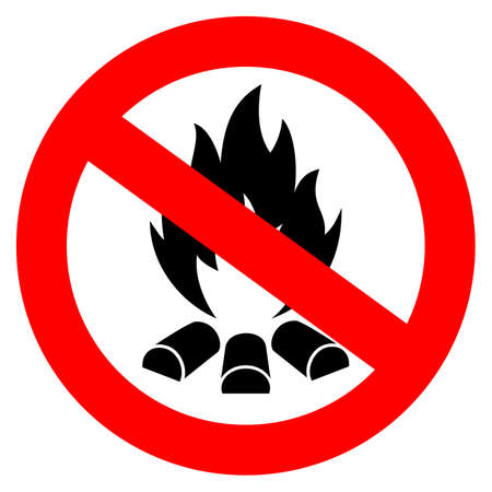 prevention: No open fire vector sign