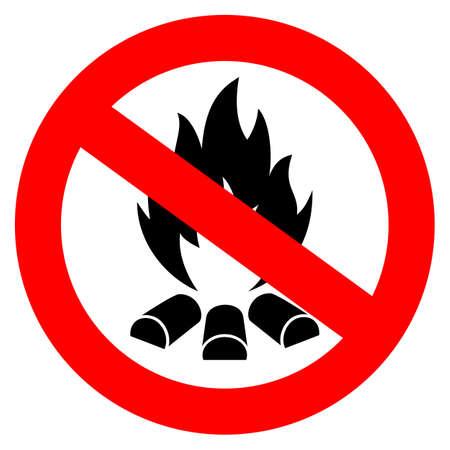forewarn: No open fire vector sign
