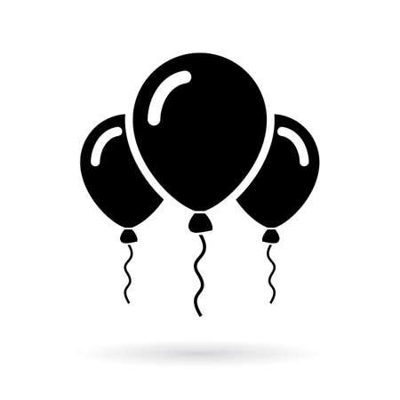 Birthday party balloons icon