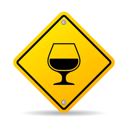 alcoholic drink: Alcoholic drink vector sign