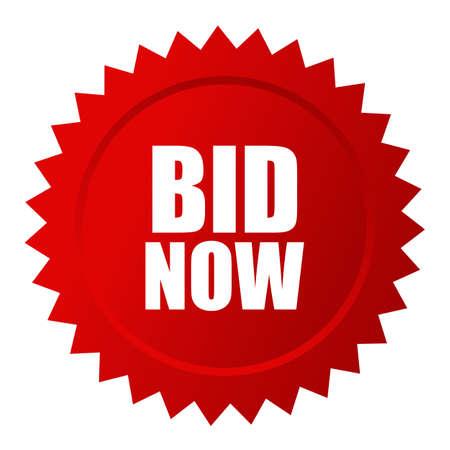 Bid now auction star icon Illustration