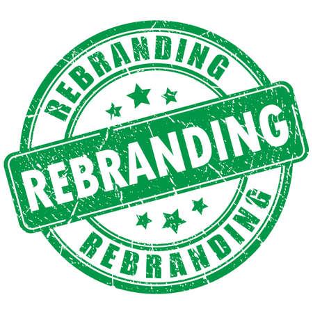 redesign: Rebranding rubber stamp Illustration