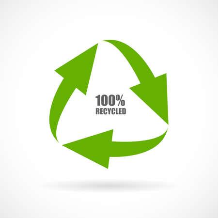 papel reciclado: Los materiales reciclados icono del vector
