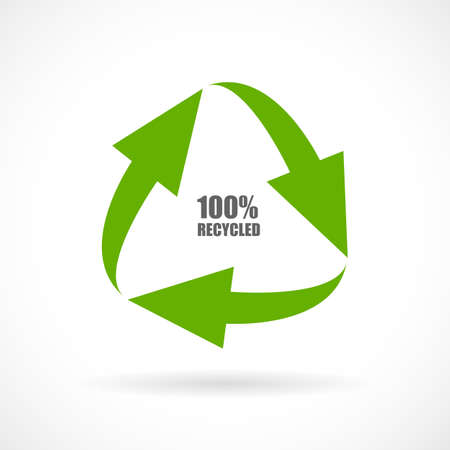 recycled: Recycled materials vector icon Illustration